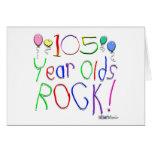 ¡105 años de la roca! tarjeta