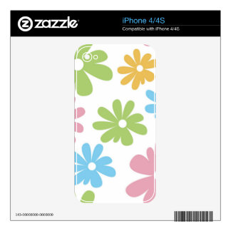 105 COLORFUL VECTOR FLOWERS COLLAGE GRAPHICS TEMPL iPhone 4S SKIN