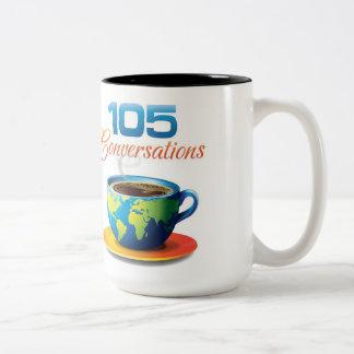 105 Conversations Two-Tone Mug