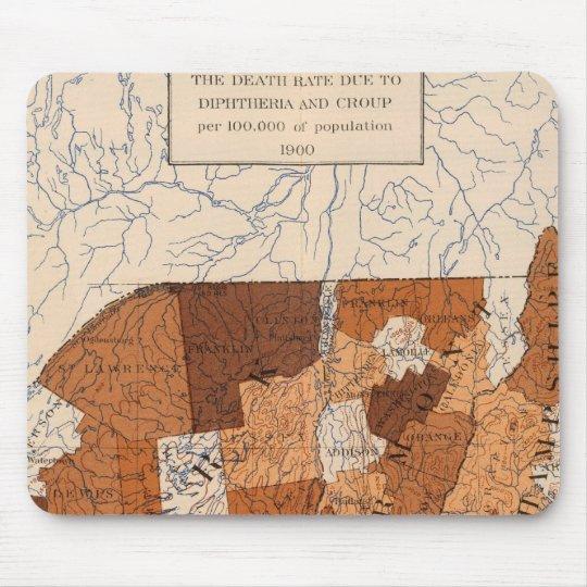 105 difterias, grupa NY, NJ, Nueva Inglaterra Alfombrillas De Ratón