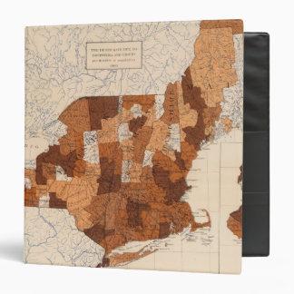 """105 difterias, grupa NY, NJ, Nueva Inglaterra Carpeta 1 1/2"""""""