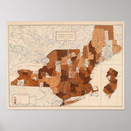 105 difterias, grupa NY, NJ, Nueva Inglaterra Posters