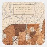 105 Diphtheria, croup NY, NJ, New England Square Sticker