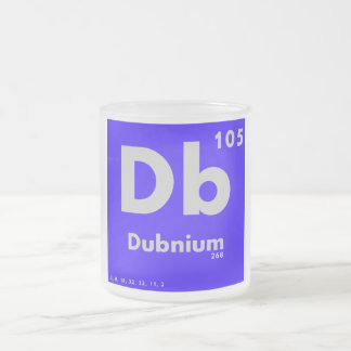 105 Dubnium | Periodic Table of Elements Frosted Glass Coffee Mug