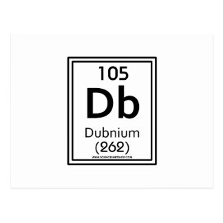 105 Dubnium Postcard