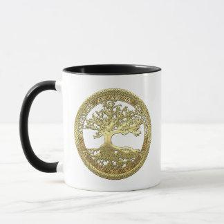 [105] Golden Celtic Tree of Life [3D] Mug