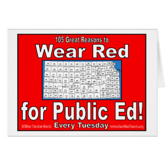105 Great Reasons to Wear Red For Public Ed Card