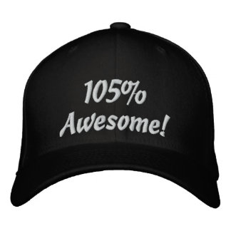 105 percent awesome! black baseball cap