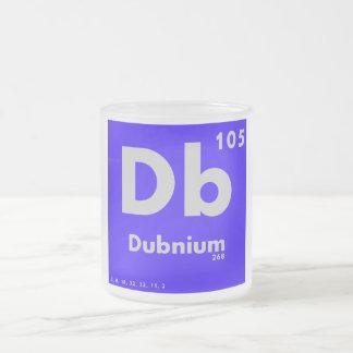 105 tabla periódica de Dubnium   de elementos Taza De Café Esmerilada