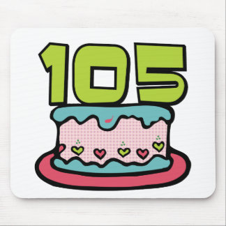105 Year Old Birthday Cake Mouse Pad