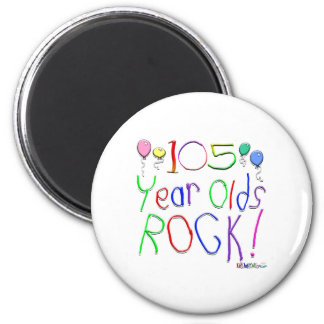 105 Year Olds Rock! Magnet