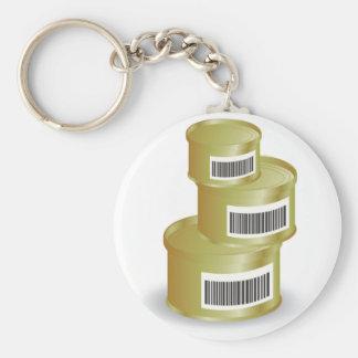 105Canned Food _rasterized Keychain