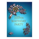 105o Invitación de la fiesta de cumpleaños