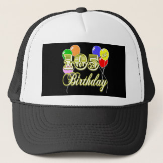 105th Birthday with Balloons Trucker Hat