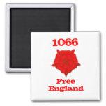 1066 - Free England Fridge Magnet