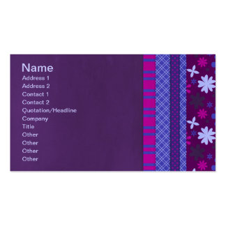 1066 PURPLE BLUE HOT PINK BACKGROUNDS STRIPES SOLI BUSINESS CARD TEMPLATE