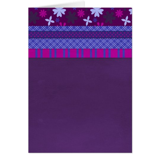 1066 PURPLE BLUE HOT PINK BACKGROUNDS STRIPES SOLI CARD