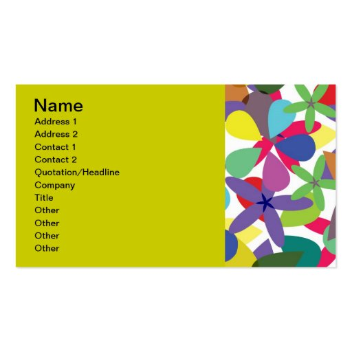 106 COLORFUL VECTOR FLOWERS COLLAGE GRAPHICS TEMPL BUSINESS CARD
