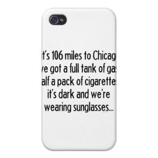 106 millas a Chicago iPhone 4 Protectores