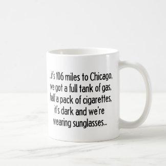106 millas a Chicago Tazas De Café