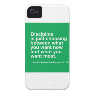 106- Small Business Owner Gift - Discipline Choice iPhone 4 Case