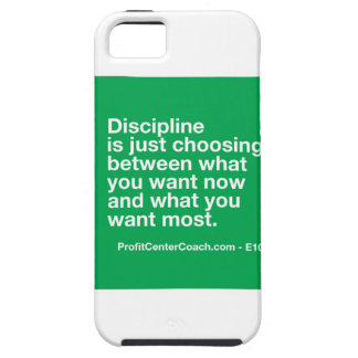 106- Small Business Owner Gift - Discipline Choice iPhone SE/5/5s Case