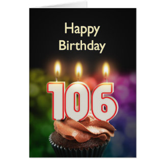 106th Birthday card with Candles