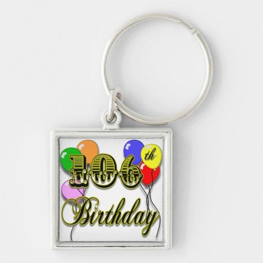 106th Birthday Celebration Keychain