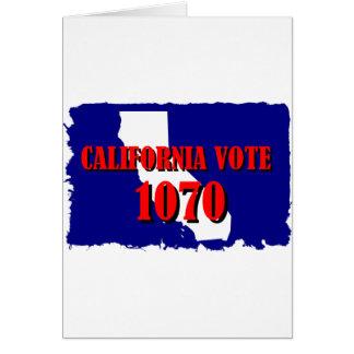 1070 CALIFORNIA CARD