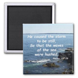 107:29 de los salmos imán cuadrado