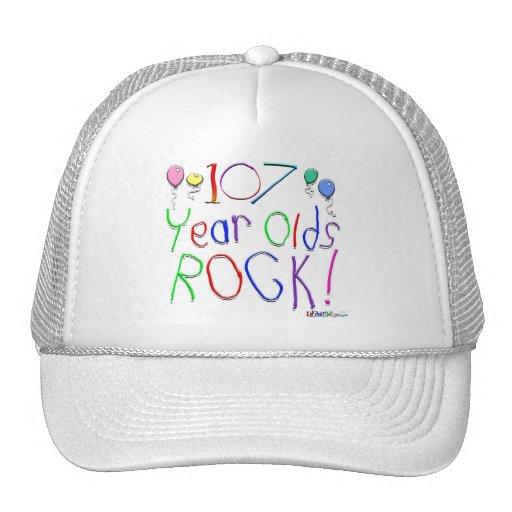 ¡107 años de la roca! gorra
