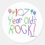 ¡107 años de la roca! pegatina