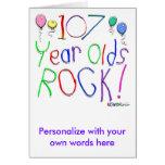 ¡107 años de la roca! tarjetas