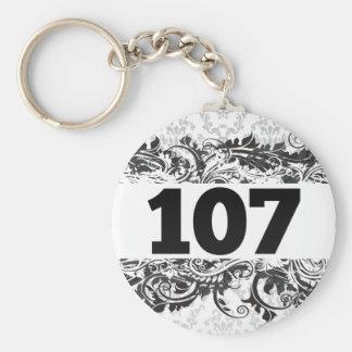 107 BASIC ROUND BUTTON KEYCHAIN