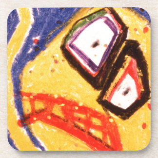 107 Dance of pained glass Beverage Coaster