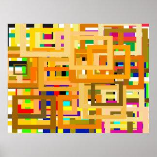 107 fronteras del color para que USTED personalice Poster