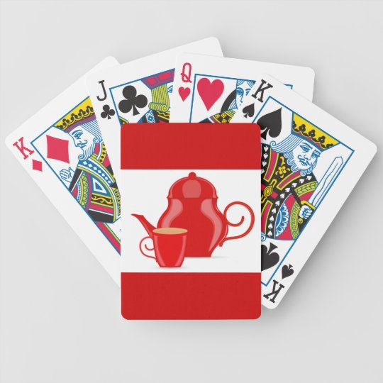107 GLOSSY RED TEA KETTLE VECTOR GRAPHICS LOGO ICO BICYCLE PLAYING CARDS