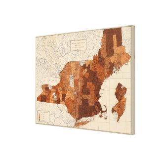107 gripe NY, NJ, Nueva Inglaterra Impresiones De Lienzo
