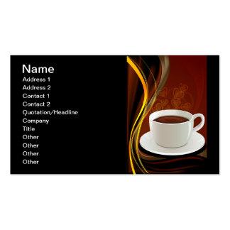 107 HOT MODERN COFFEE STEAM BLACK DARK BROWN YELLO BUSINESS CARD TEMPLATE