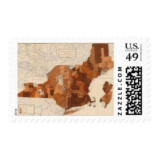 107 Influenza NY, NJ, New England Stamp