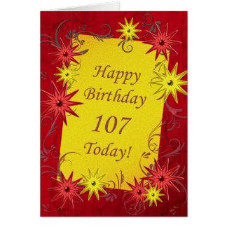 107th Birthday card