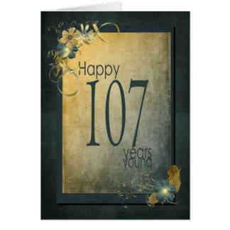 107th Birthday-vintage frame Card