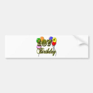 107th Birthday with Balloons Design Bumper Sticker
