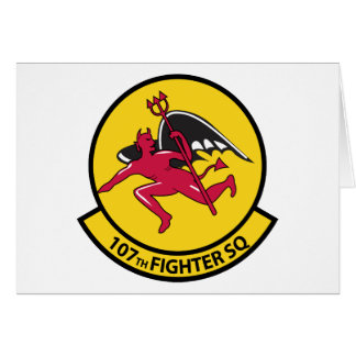 107th Fighter Squadron Card
