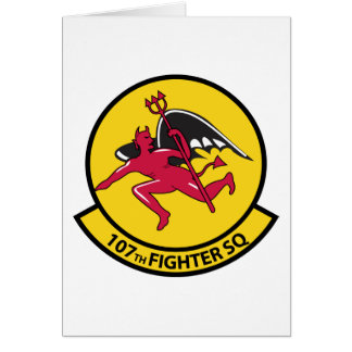 107th Fighter Squadron Card