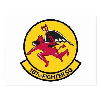 107th Fighter Squadron Postcard