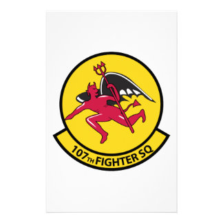 107th Fighter Squadron Stationery