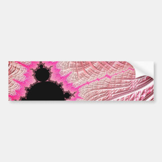 108-11 black mandy in metallic pink field bumper sticker