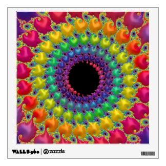 108-36 rainbow dot spiral wall sticker