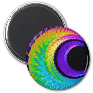 108-39 metallic rainbow crescent moon magnet